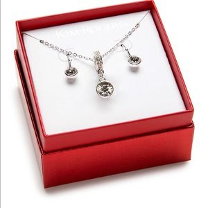Kim Rogers® Silver-Tone Crystal Drop Necklace Set